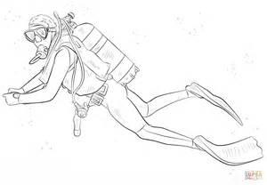 Scuba Diver Coloring Pagepng sketch template