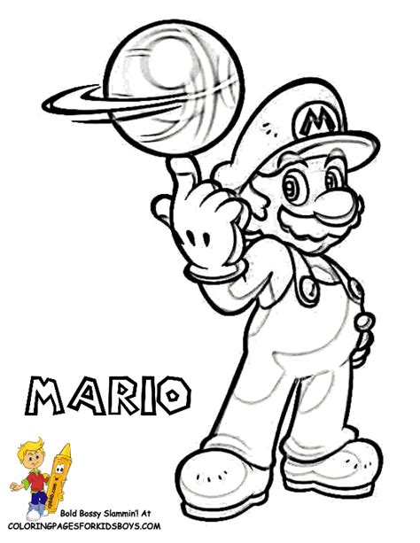 super mario color pages kids coloring