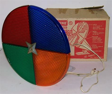 vintage aluminum christmas tree quot penetray color wheel quot w
