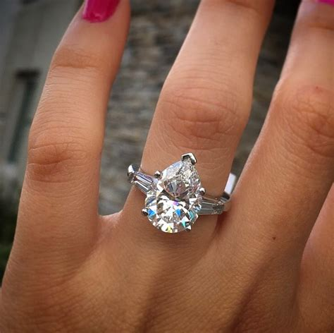 Pear Shaped Engagement Ring by Wedding Bands For Pear Cut Engagement Rings Gem Hunt