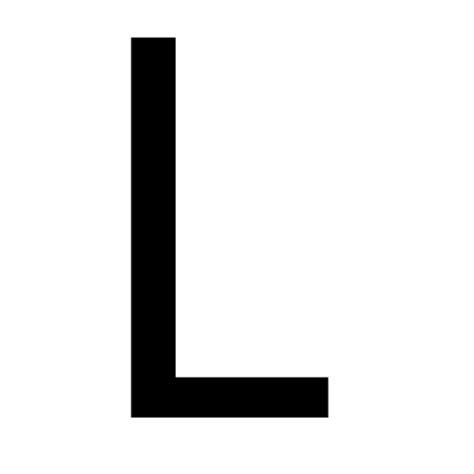 L Black by Free Black Letter L Icon Black Letter L Icon
