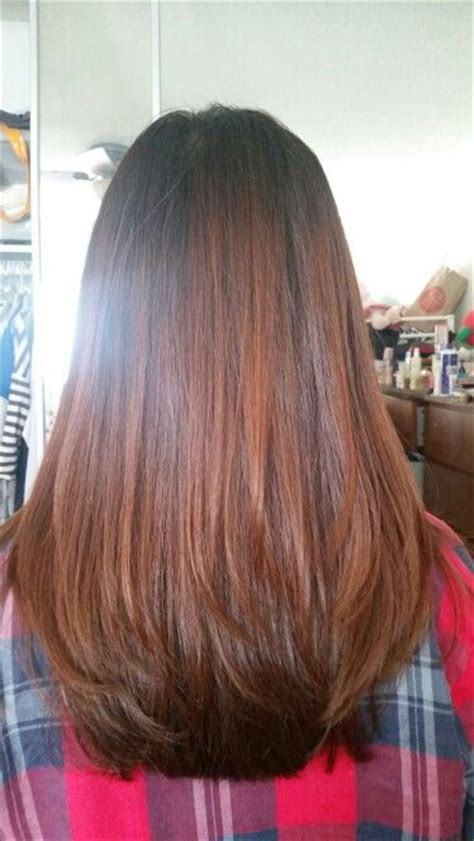 layering just ends of hair new haircut layered hair medium length straight ends