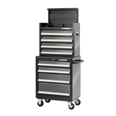 husky 27 in clear view 8 drawer tool chest and cabinet