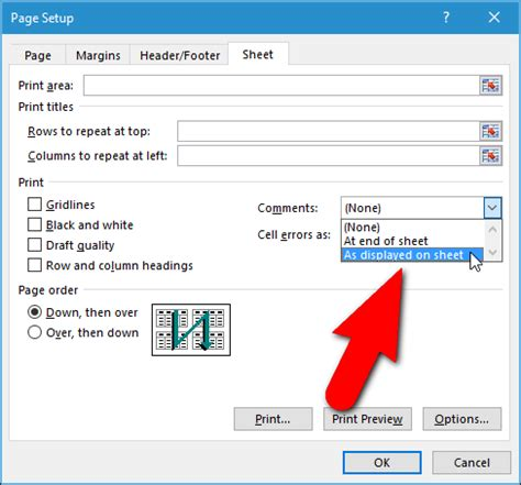 how to print screen a section how to print a worksheet with comments in excel