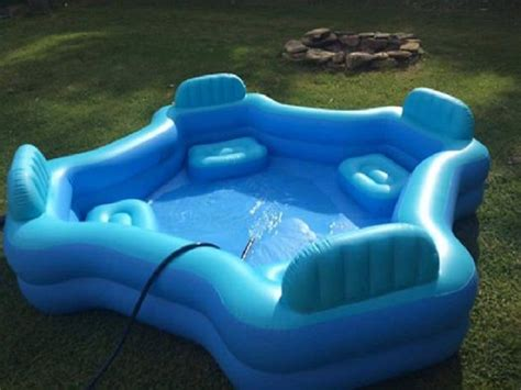blow up pool bed this 30 four seat family lounge pool from walmart will