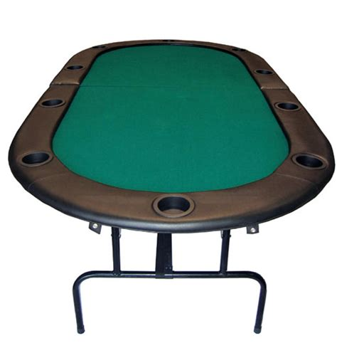 84 foldable holdem table w legs green