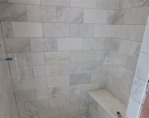 Mosaic Tiled Bathrooms Ideas marble carrara tile bathroom part 3 close up look