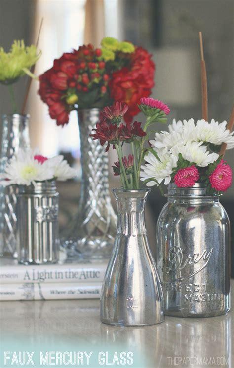 Diy Mercury Glass Vases by Faux Mercury Glass Vases Diy
