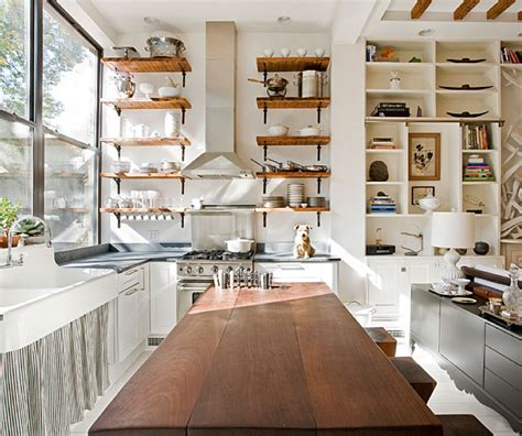 open kitchen shelving interior design ideas