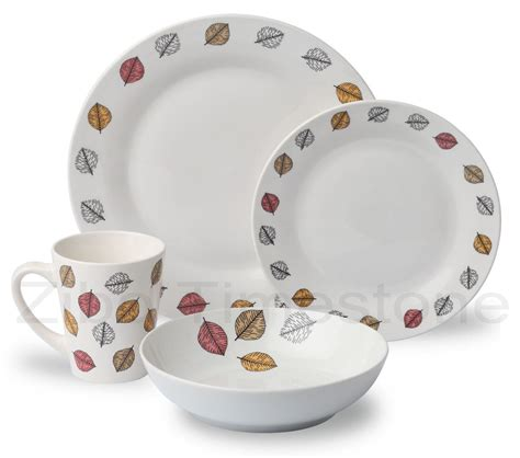 dinner set 16pc porcelain decaled dinner set zibo timestone