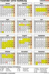 Kalender 2018 Hamburg Zum Ausdrucken Kalender 2018 Hamburg Ferien Feiertage Excel Vorlagen
