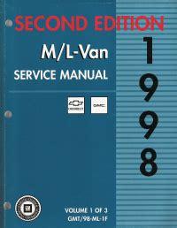 service manual free 1998 gmc safari service manual haynes 24010 service repair manual 1998 chevrolet gmc m l vans astro safari factory service manual 226 ˆš 3 volume set