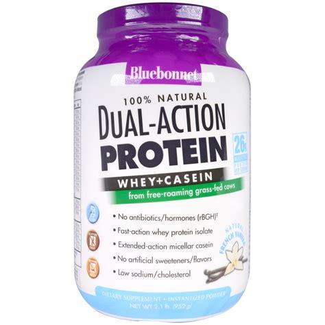 L Hi Protein Casein Bluebonnet Nutrition Dual Protein Whey Casein