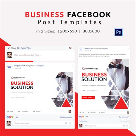 Post Template 10 Free Facebook Post Templates Business Travel Fashion Free Premium Templates