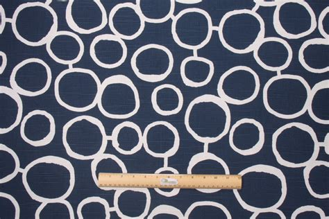 Upholstery Fabric Prints by Premier Prints Freehand Slub Drapery Fabric In Premier Navy