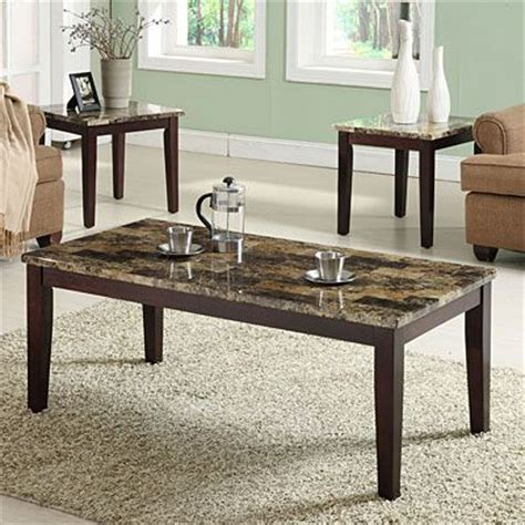 big lots faux marble 3 piece faux marble occasional table set at big lots