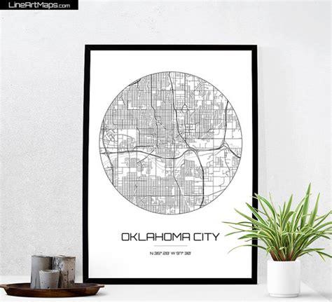 home decor oklahoma city oklahoma city map print city map of oklahoma city