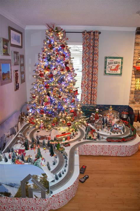 christmas tree train layout for 2016 o gauge