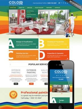 Painting Templates Website Templates From Www Bootstrap Template Com House Painter Website Template