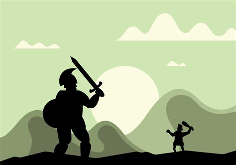 images of david and goliath david and goliath vector illustration free