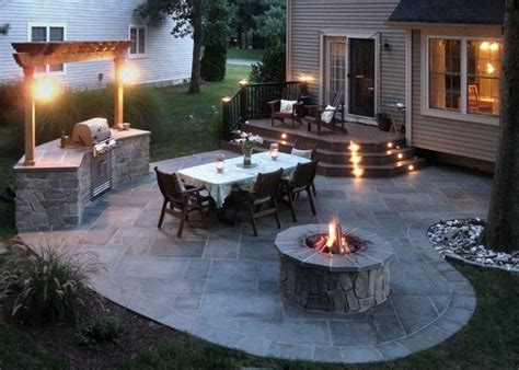 A Classic Outdoor Living Solution Stone Patios For Many Backyard Decks And Patios Ideas