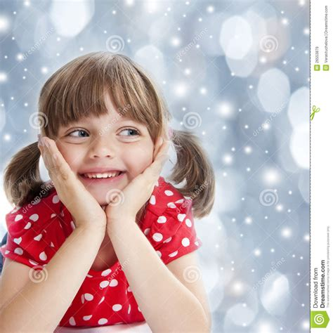 little girls happy little girl at the winter time royalty free stock