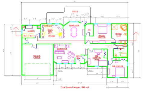 residential ink home design drafting house plan cad file numberedtype