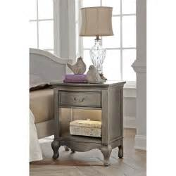 Silver Nightstand Kensington Antique Silver Nightstand