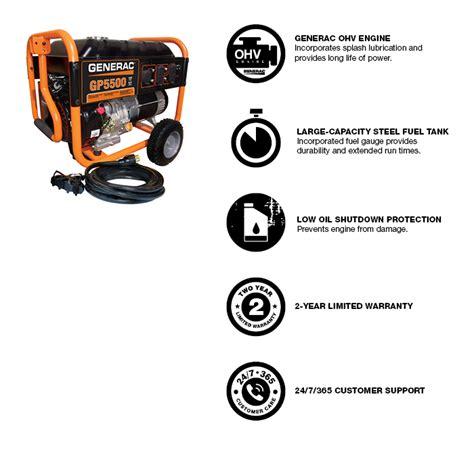 generac gp5500 5500 watt portable generator wiring