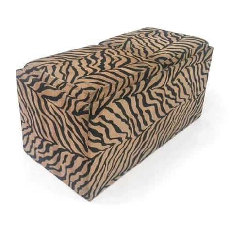 zebra print storage ottoman animal print storage ottoman shop storage animal print