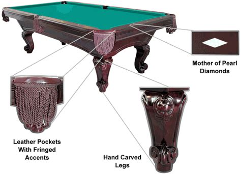 united billiards vail drop pocket pool table with equipment
