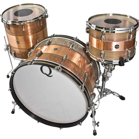 drum with q drum co copper 3 drum set shell pack 24 quot bass
