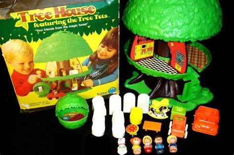 1975 tree tots tree house playset by fisher price
