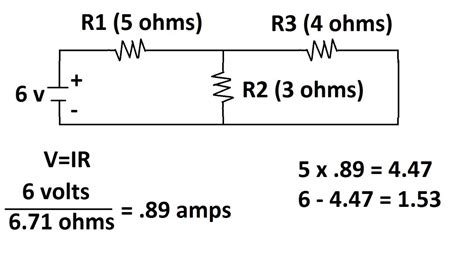 how to calculate voltage drop across one resistor circuit with two voltage sources how to find voltages of each resistor parallel and series