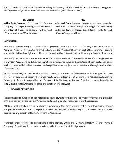 strategic alliance agreement template strategic alliance agreement template emsec info