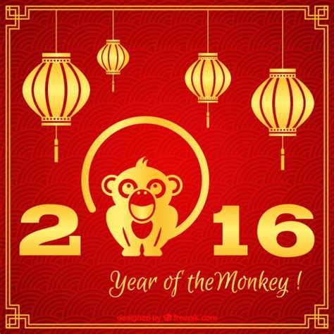 new year monkey free vector year of the monkey background vector free
