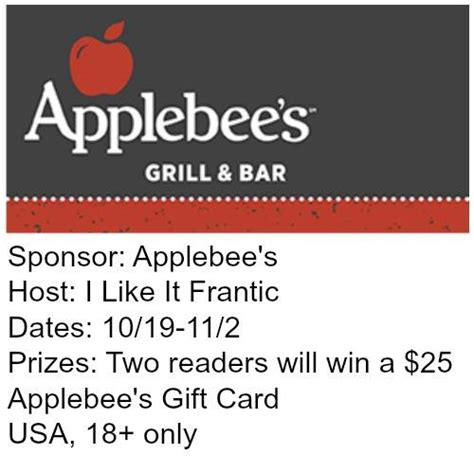 Applebees Gift Card Amount - win 1 of 2 applebees gift cards it s free at last