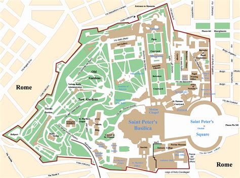 vatican city map in world vatican city map travel europe