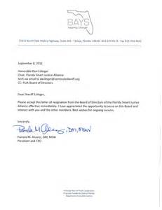 Board Of Directors Resignation Letter by Criminal Justice Reform Organization Led By Barney Bishop