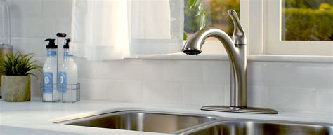 install new kitchen faucet how to install a kitchen faucet canadian tire