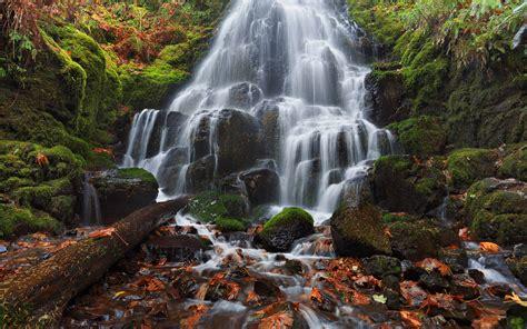 cascade falls fairy falls columbia river  oregon usa