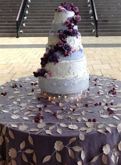 Wine And Roses Wedding Cake By Queen Anne's Lace Cakes