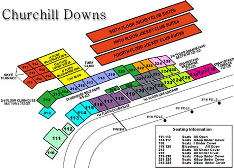 kentucky derby seating churchill downs seating chart cabinets matttroy