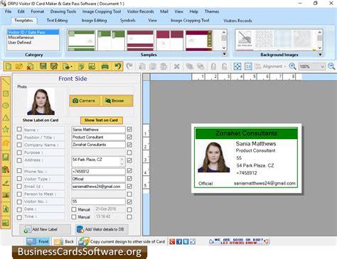 pattern visitor exle download id card designer program at free download 64
