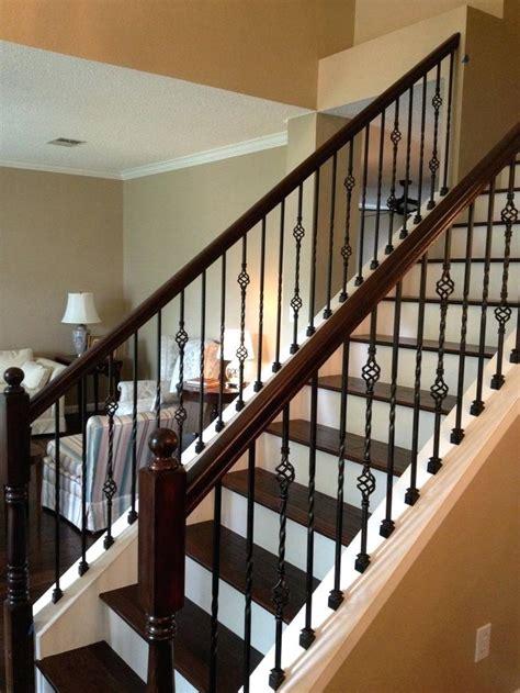 railing spindles iron stair railing black iron stair