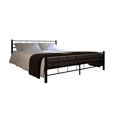 Metal Bed Frame King King 6ft Metal Bed Frame Block Platform Bedroom Furniture Black 180x200cm Ebay