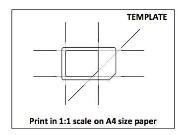 micro sim card template letter size paper pdf da sim a micro sim da oggi con il template non si sbaglia