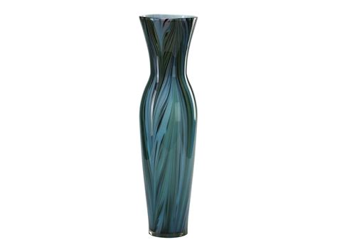 Feathers In Vase by Cyan Design Colored Blue Peacock Feather Vase C302921