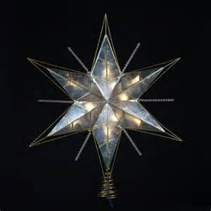 15 5 quot lighted capiz gold and beaded star christmas tree
