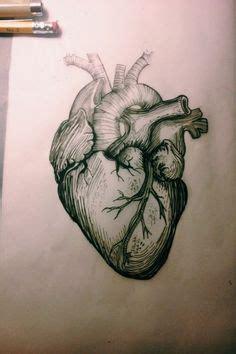 tattooed heart background vocals hand drawn line art human brain and heart da vinci